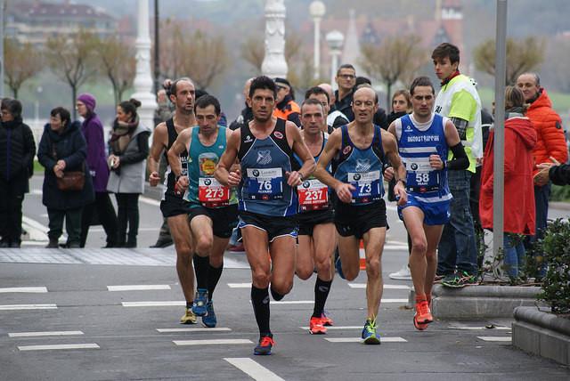 Álvaro Calderón en la maratón de Hamburgo
