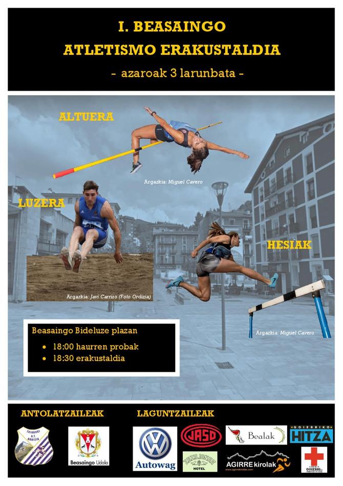 Exhibición Atlética en Beasain, Cross Escolar en Zarautz y Maratón de Nueva York
