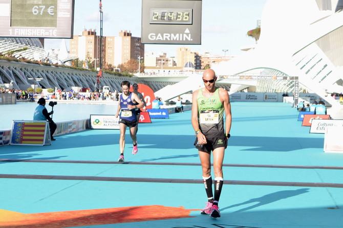 "Eneko Agirrezabal en la maratón ""Elite Edition"" de Valencia"