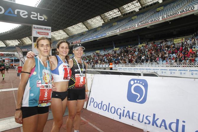 Izaro Rubioren podiuma Donostiako 15km-ko oinezkoen klasikan