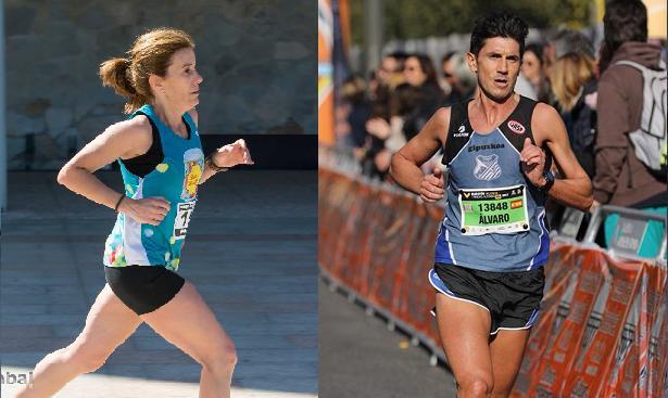 Izaro Rubio y Álvaro Calderón brillan en la maratón de Valencia
