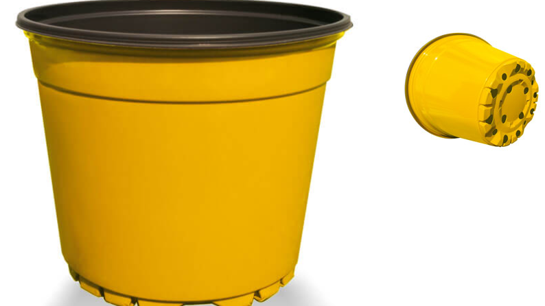 10 vasi termoformati diametro 14cm riciclato e riciclabile