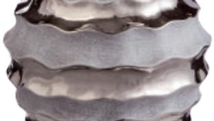 Anfora in ceramica effetto specchio