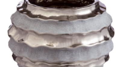 Vaso diametro 18 cm in ceramica effetto specchio