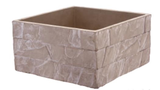 Vaso cubo effetto pietra 23cm x 12 cm