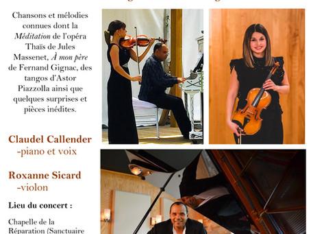 Un violon, un piano, une voix !