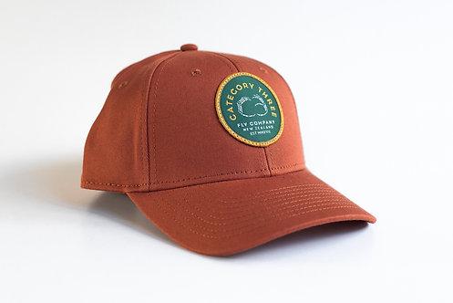 Category 3 Logo Baseball Cap Copper