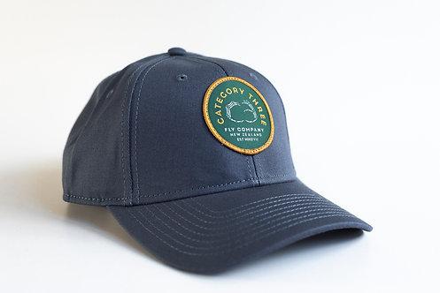 Category 3 Logo Baseball Cap Petrol Blue