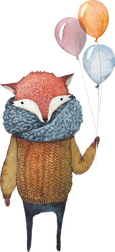 Fox with Balloons
