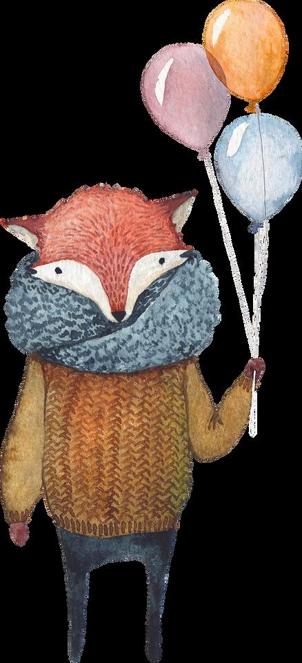 Fox met Ballons