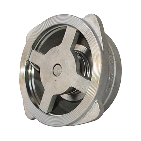 """Válvula de Retenção Tipo Disco Wafer Inox 304 1"""""""