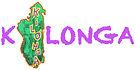 Logo kilonga en majuscules violettes sauf le i remplacé par la forme de Madagascar couleur verte