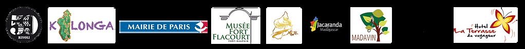logos des partenaires de Madagasyart 2019