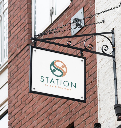 Station Salon Sign