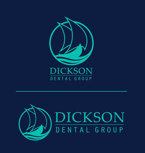 Dickson Dental Light Color Logo Lockup Variations
