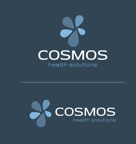 Cosmos Health Solutions Logo on Dark Background