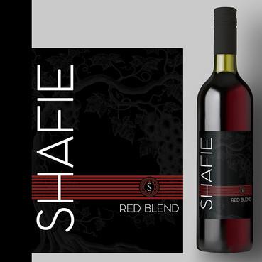 SHAFIE-Red Blend Label Design