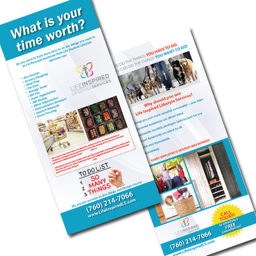 LIFE INSPIRED LIFESTYLE SERVICES RACK CARD