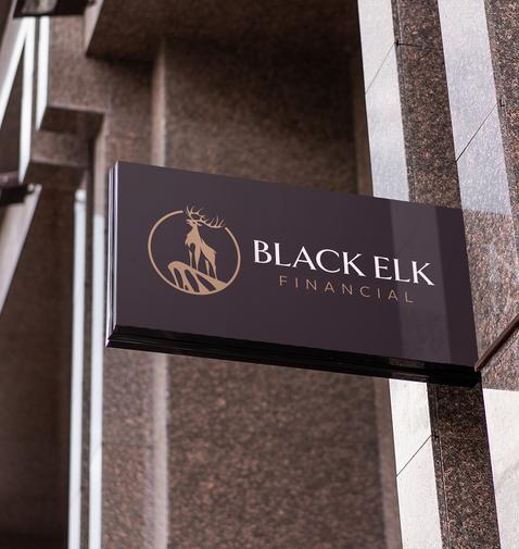 Black Elk Financial Street Sign