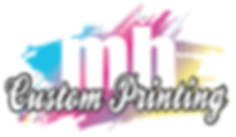 MH Custom Printing Logo,Oceanside, CA