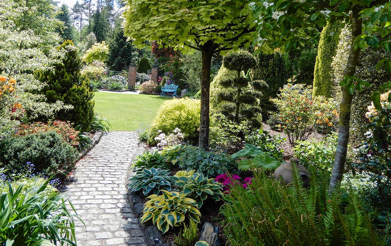 Pad en tuin