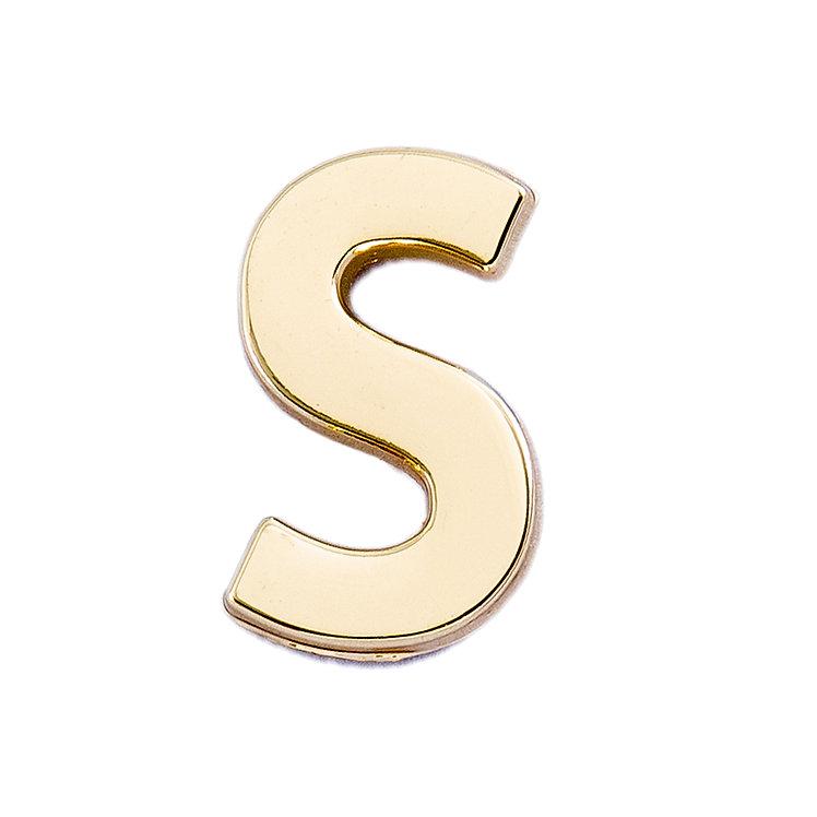 Golden Letter S Pin