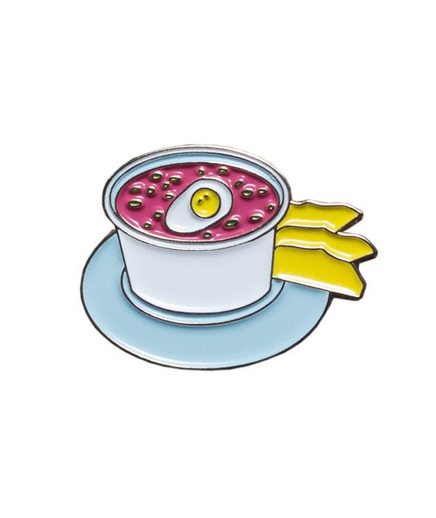 """ENAMEL PIN """" PINK COLD SOUP """""""