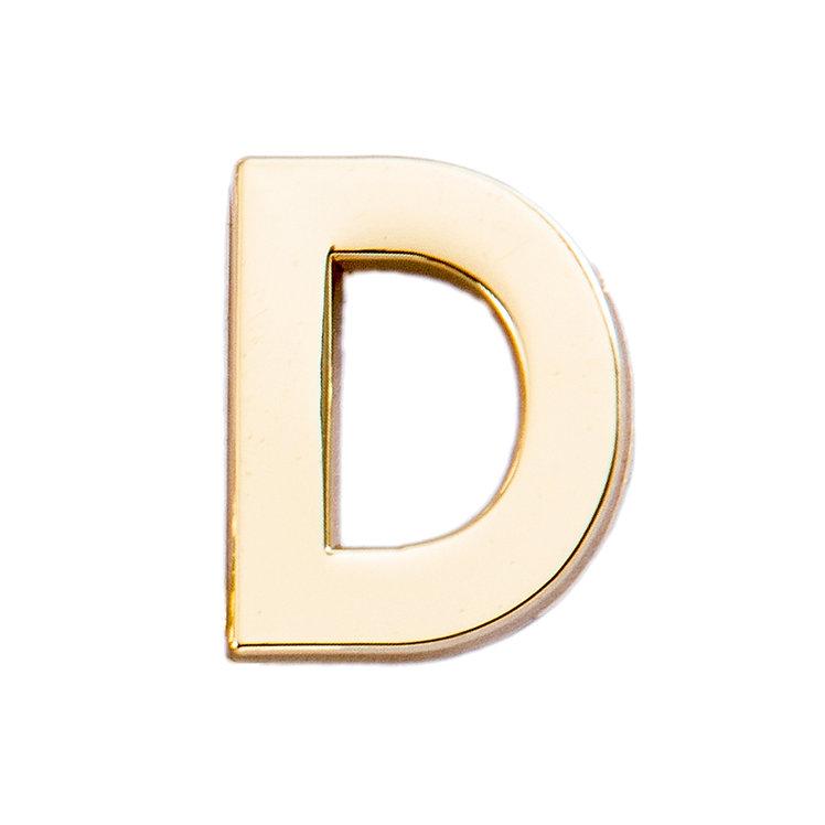 Golden Letter D Pin
