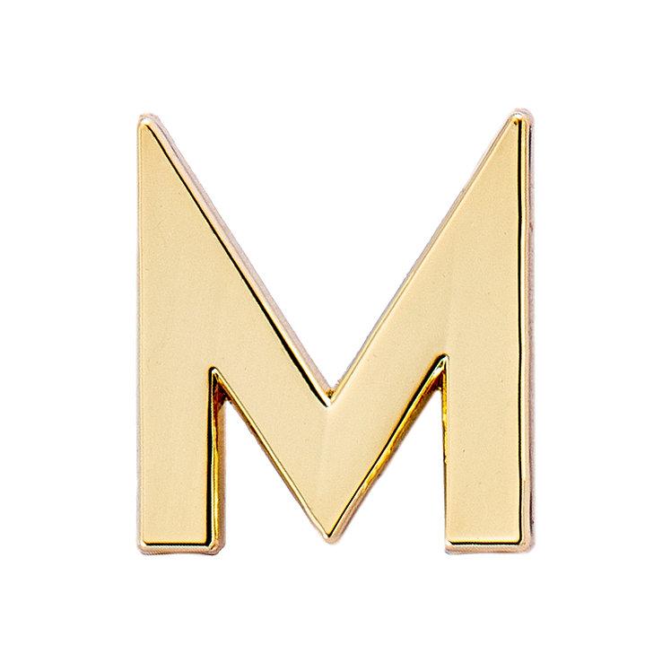 Golden Letter M Pin