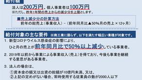 事業者に200万円まで支給される持続化給付金の詳細が公表されました