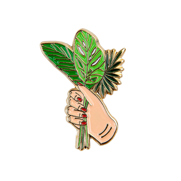 "ENAMEL PIN ""PALM LEAVES BOUQUET"""