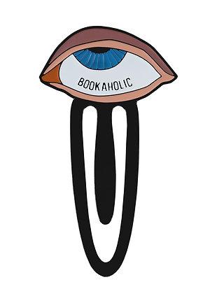 "Enamel Bookmark ""Bookaholic"""