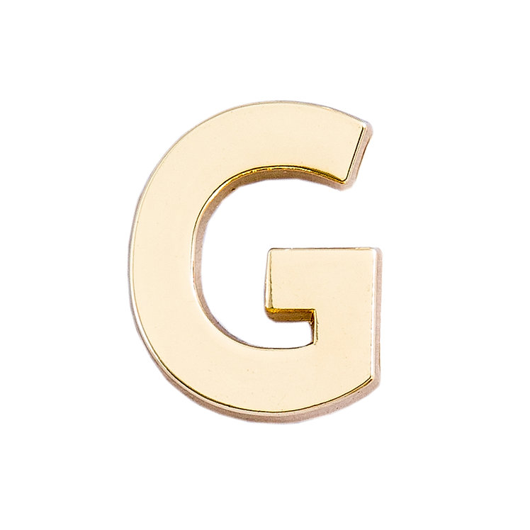 Golden Letter G Pin