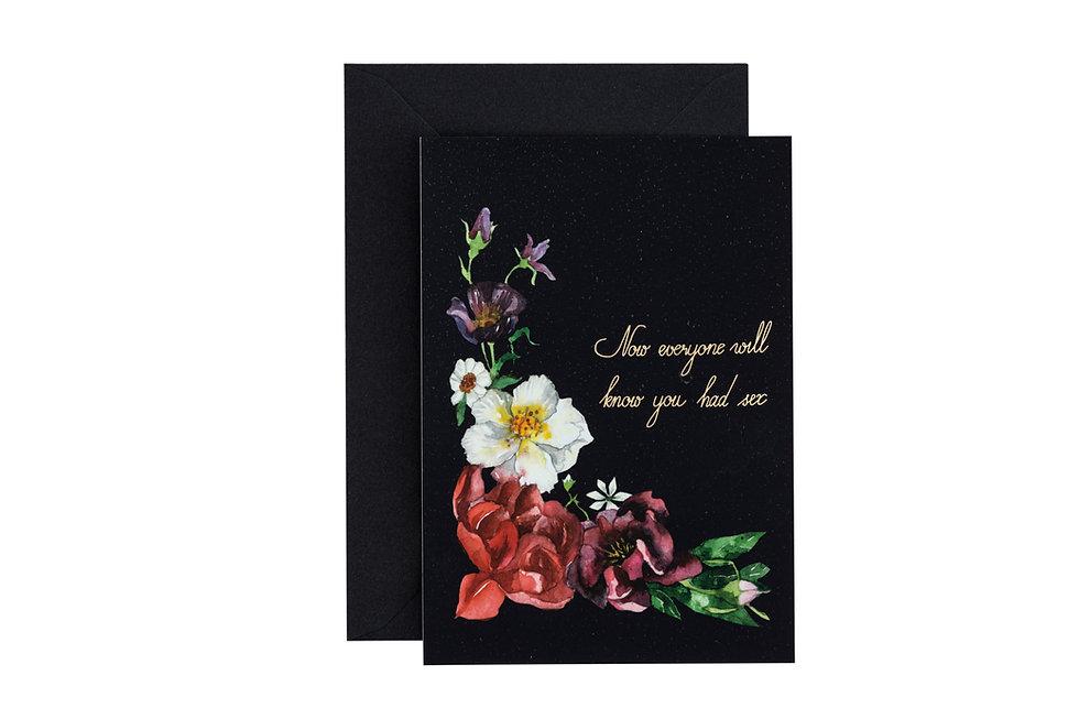 "Baby Shower Postcard ""Flowers"""