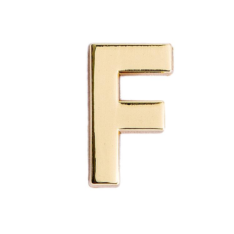 Golden Letter F Pin
