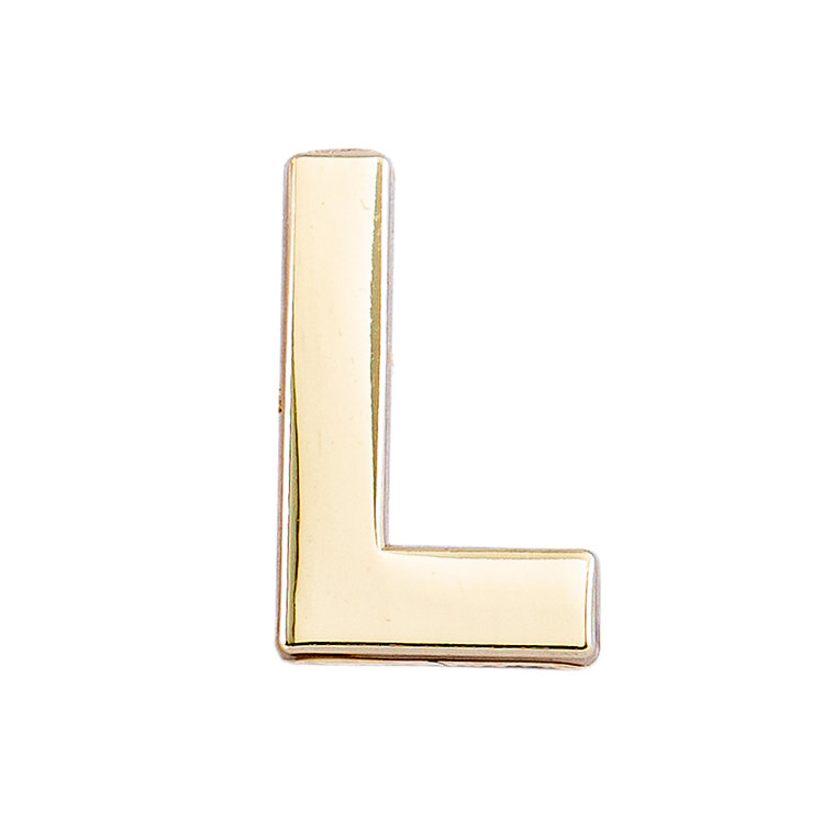 Golden Letter L Pin