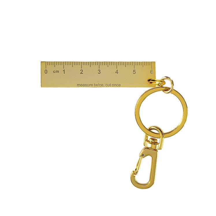 "Metal Keychain ""Ruler"""