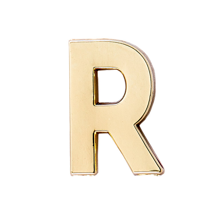 Golden Letter R Pin