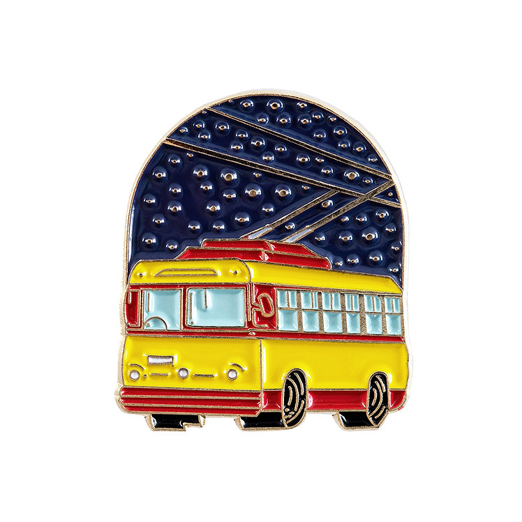 "Enamel Pin ""Trolleybus"""
