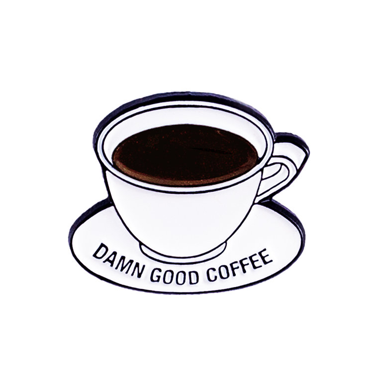 "ENAMEL PIN ""DAMN GOOD COFFEE"""