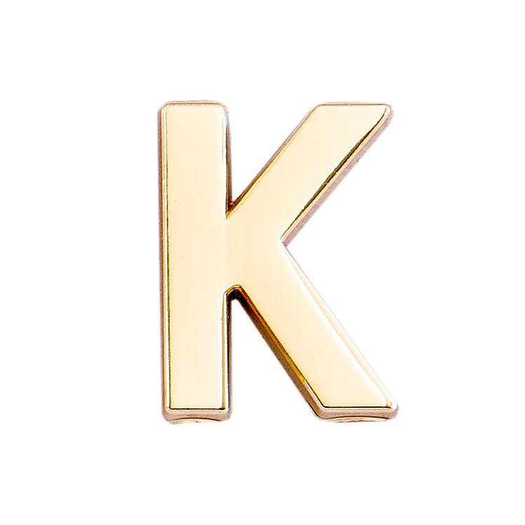 Golden Letter K Pin