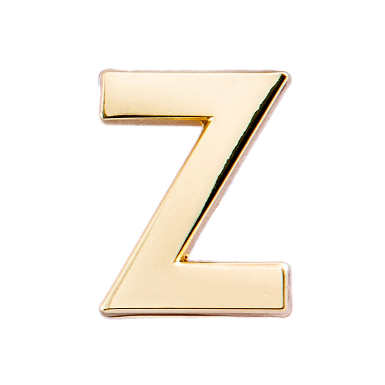 Golden Letter Z Pin