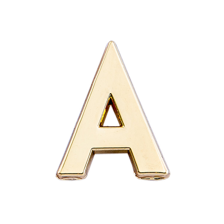 Golden Letter A Pin