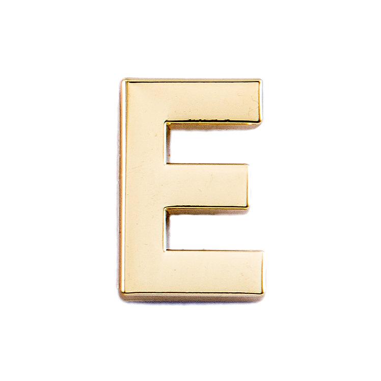 Golden Letter E Pin