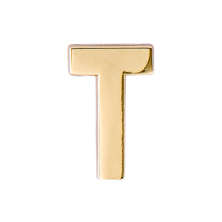 Golden Letter T Pin