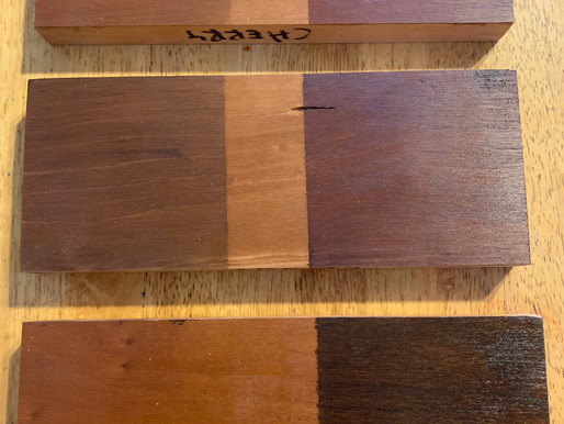 One Type Wood - 6 Stains -    What a Difference
