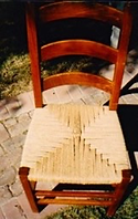 Chair with rushing