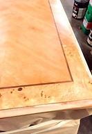 Desk top sanded