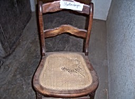 Chair before caning