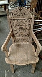 Asian Hand Carved Chair